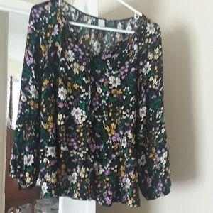 Flowered blouse.  Like new